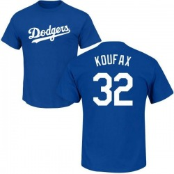 Men's Sandy Koufax Los Angeles Dodgers Roster Name & Number T-Shirt - Royal