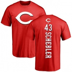 Men's Scott Schebler Cincinnati Reds Backer T-Shirt - Red