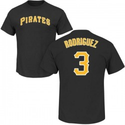 Men's Sean Rodriguez Pittsburgh Pirates Roster Name & Number T-Shirt - Black