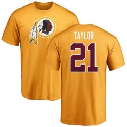 Men's Sean Taylor Washington Redskins Name & Number Logo T-Shirt - Gold