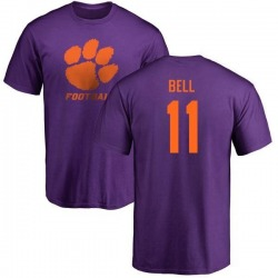 Men's Shadell Bell Clemson Tigers One Color T-Shirt - Purple