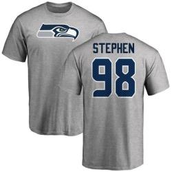 Men's Shamar Stephen Seattle Seahawks Name & Number Logo T-Shirt - Ash