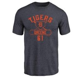 Men's Shane Greene Detroit Tigers Base Runner Tri-Blend T-Shirt - Navy