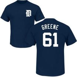 Men's Shane Greene Detroit Tigers Roster Name & Number T-Shirt - Navy