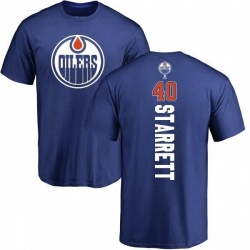 Men's Shane Starrett Edmonton Oilers Backer T-Shirt - Royal