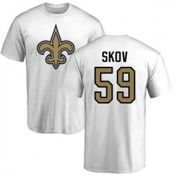 Men's Shayne Skov New Orleans Saints Name & Number Logo T-Shirt - White