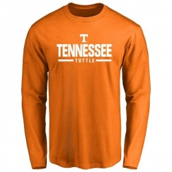 Men's Shy Tuttle Tennessee Volunteers Sport Wordmark Long Sleeve T-Shirt - Tennessee Orange