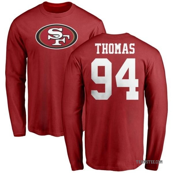 best deals on f864a 2d88f Men's Solomon Thomas San Francisco 49ers Name & Number Logo Long Sleeve  T-Shirt - Red - Teams Tee