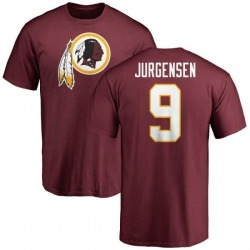 Men's Sonny Jurgensen Washington Redskins Name & Number Logo T-Shirt - Maroon