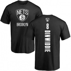 Men's Spencer Dinwiddie Brooklyn Nets Black Backer T-Shirt