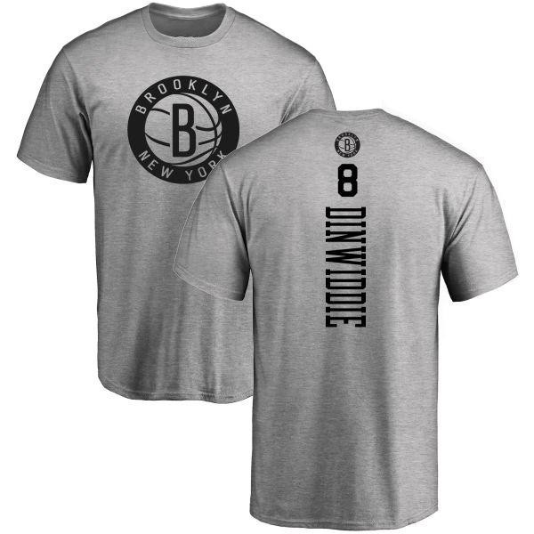newest 9e6cf 94b6d Men's Spencer Dinwiddie Brooklyn Nets Heathered Gray One Color Backer  T-Shirt - Teams Tee