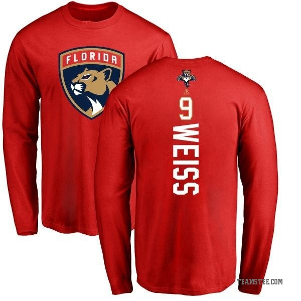 premium selection 7daba c3e73 Men's Stephen Weiss Florida Panthers Backer Long Sleeve T-Shirt - Red -  Teams Tee