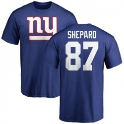 Men's Sterling Shepard New York Giants Name & Number Logo T-Shirt - Royal