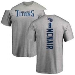 Men's Steve McNair Tennessee Titans Backer T-Shirt - Ash