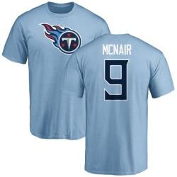 Men's Steve McNair Tennessee Titans Name & Number Logo T-Shirt - Light Blue