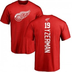 Men's Steve Yzerman Detroit Red Wings Backer T-Shirt - Red