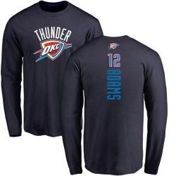 Men's Steven Adams Oklahoma City Thunder Navy Backer Long Sleeve T-Shirt