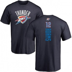 Men's Steven Adams Oklahoma City Thunder Navy Backer T-Shirt