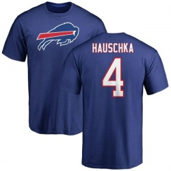 Men's Steven Hauschka Buffalo Bills Name & Number Logo T-Shirt - Royal