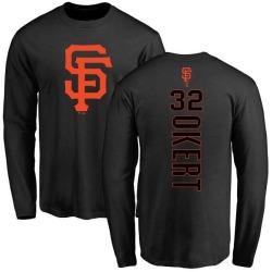 Men's Steven Okert San Francisco Giants Backer Long Sleeve T-Shirt - Black