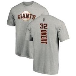 Men's Steven Okert San Francisco Giants Backer T-Shirt - Ash