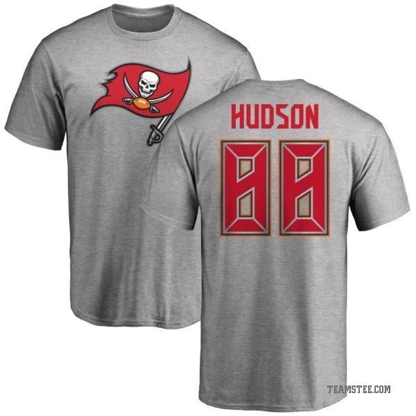sports shoes d7b50 92a25 Men's Tanner Hudson Tampa Bay Buccaneers Name & Number Logo T-Shirt - Ash -  Teams Tee