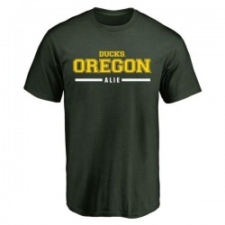 Men's Taylor Alie Oregon Ducks Sport Wordmark T-Shirt - Green