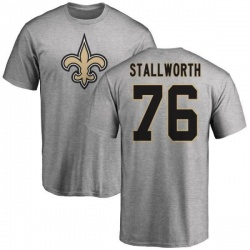 Men's Taylor Stallworth New Orleans Saints Name & Number Logo T-Shirt - Ash