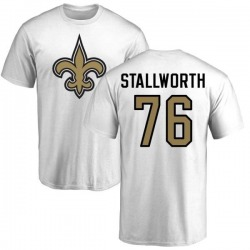Men's Taylor Stallworth New Orleans Saints Name & Number Logo T-Shirt - White