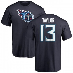 Men's Taywan Taylor Tennessee Titans Name & Number Logo T-Shirt - Navy