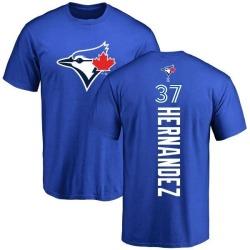 Men's Teoscar Hernandez Toronto Blue Jays Backer T-Shirt - Royal