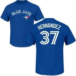 Men's Teoscar Hernandez Toronto Blue Jays Roster Name & Number T-Shirt - Royal
