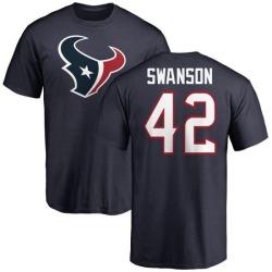 Men's Terry Swanson Houston Texans Name & Number Logo T-Shirt - Navy