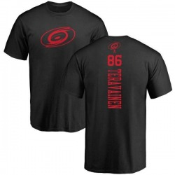 Men's Teuvo Teravainen Carolina Hurricanes One Color Backer T-Shirt - Black