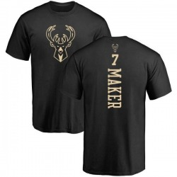 Men's Thon Maker Milwaukee Bucks Black One Color Backer T-Shirt