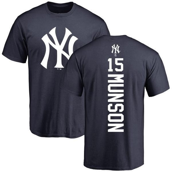 270568c2ac5 Men's Thurman Munson New York Yankees Backer T-Shirt - Navy - Teams Tee