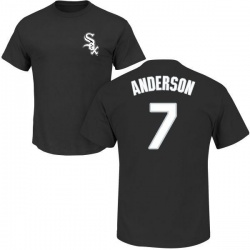Men's Tim Anderson Chicago White Sox Roster Name & Number T-Shirt - Black