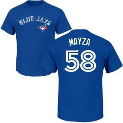 Men's Tim Mayza Toronto Blue Jays Roster Name & Number T-Shirt - Royal