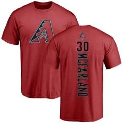 Men's T.J. McFarland Arizona Diamondbacks Backer T-Shirt - Red