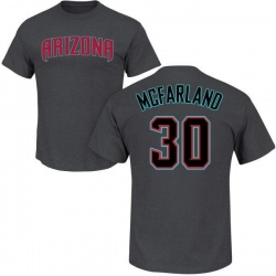 Men's T.J. McFarland Arizona Diamondbacks Roster Name & Number T-Shirt - Charcoal