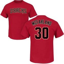 Men's T.J. McFarland Arizona Diamondbacks Roster Name & Number T-Shirt - Crimson