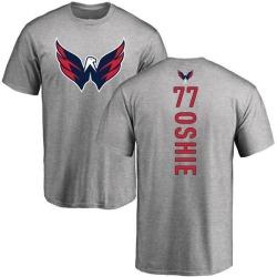 Men's T.J. Oshie Washington Capitals Backer T-Shirt - Ash