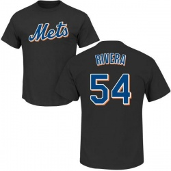 Men's T.J. Rivera New York Mets Roster Name & Number T-Shirt - Black