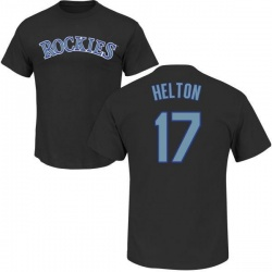 Men's Todd Helton Colorado Rockies Roster Name & Number T-Shirt - Black