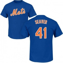 Men's Tom Seaver New York Mets Roster Name & Number T-Shirt - Royal