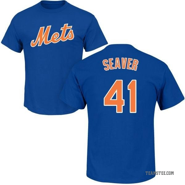 detailed look a25d8 5518a Men's Tom Seaver New York Mets Roster Name & Number T-Shirt - Royal
