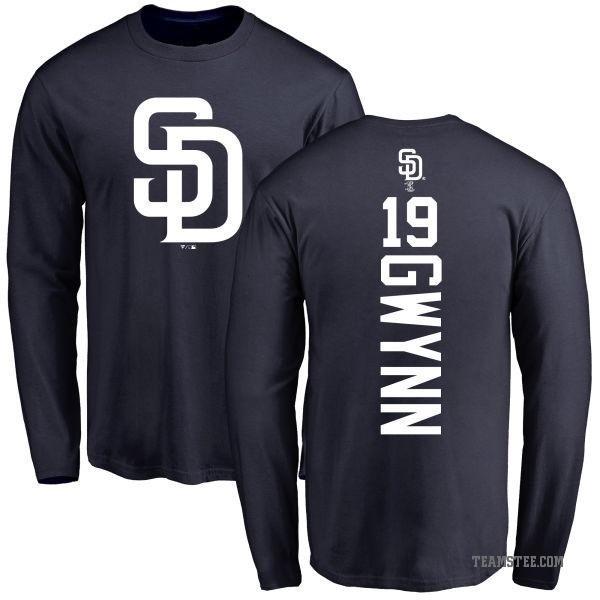 separation shoes b55d5 c1472 Men's Tony Gwynn San Diego Padres Backer Long Sleeve T-Shirt - Navy - Teams  Tee
