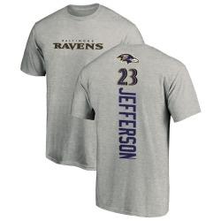 Men's Tony Jefferson Baltimore Ravens Backer T-Shirt - Ash