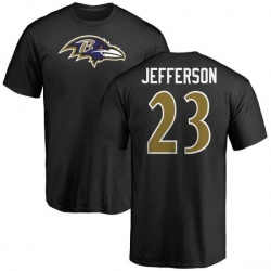 Men's Tony Jefferson Baltimore Ravens Name & Number Logo T-Shirt - Black