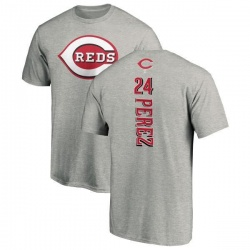 Men's Tony Perez Cincinnati Reds Backer T-Shirt - Ash
